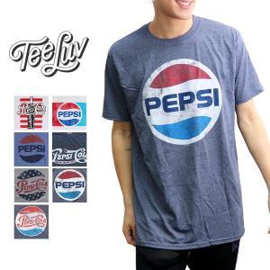 Tee Luv PEPSI ペプシ Tシャツ ロゴT トップス 半袖 メンズ レディース ヴィンテージ風【ネコポスのみ送料無料】|bobsstore