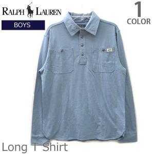 ポロ ラルフローレン /POLO RALPH LAUREN ボーイズ モデル 323605717 ロンT シャツ ブルー 水色  WHITE WASH bobsstore