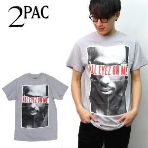 トゥーパック【2PAC】ALL EYES ON ME GRAY グレー Tシャツ ロックT バンドT ヒップホップ ロゴT 正規品 本物 ネコポス bobsstore