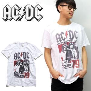 エーシーディーシー【AC/DC】 USA TOUR 79 WHITE ホワイト Tシャツ ロックT バンドT ヒップホップ ロゴT 正規品 本物【ネコポスのみ送料無料】 bobsstore