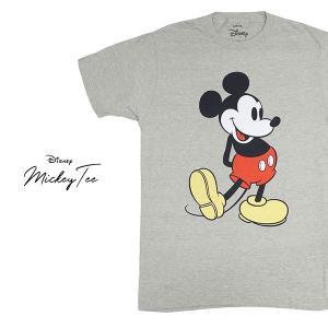 ディズニー 【Disney】ミッキー MICKEY TEE グレー GREY  Tシャツ ロックT バンドT ヒップホップ ロゴT 正規品 本物 ネコポス発送|bobsstore