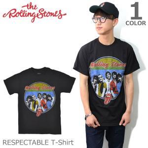 ザ・ローリングストーンズ【THE ROLLING STONES】RESPECTABLE BLACK ブラック Tシャツ ロックT バンドT ヒップホップ ロゴT 正規品 本物|bobsstore