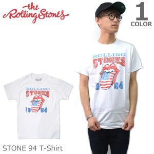 ザ・ローリングストーンズ【THE ROLLING STONES】STONE 94 WHITE ホワイト Tシャツ ロックT バンドT ヒップホップ ロゴT 正規品 本物|bobsstore