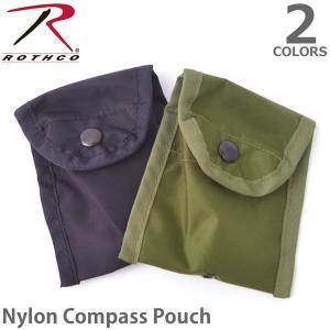 ロスコ /Rothco Nylon Compass Pouch 408 ナイロン ポーチ 小物入れ Black/Olive Drab メール便可 bobsstore