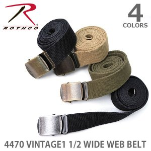 ロスコ /Rothco 4470 VINTAGE1 1/2 WIDE WEB BELT ベルト メンズ カジュアル ミリタリー ガチャベルト 4Color|bobsstore