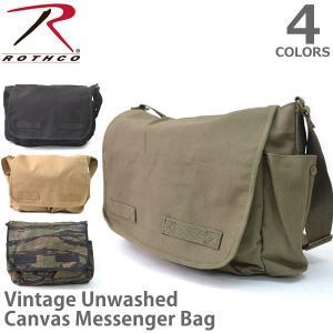 ロスコ /Rothco Vintage Unwashed Canvas Messenger Bag メッセンジャーバッグ ショルダーバッグ 旅行 通学 通勤 ジム バック 大きめ|bobsstore