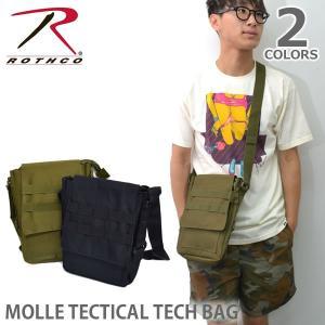 ロスコ /Rothco モール タクティカル テックバッグ MOLLE TACTICAL TECH BAG 9760 ショルダーバッグ バッグ ジム サブバック ミリタリー 小さめ|bobsstore
