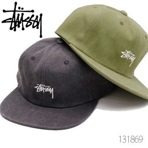 ステューシー【STUSSY】 131869 STOCK WASHED CANVAS CAP キャップ ストリート スチューシー stussy スナップバック ロゴ メンズ 帽子】|bobsstore