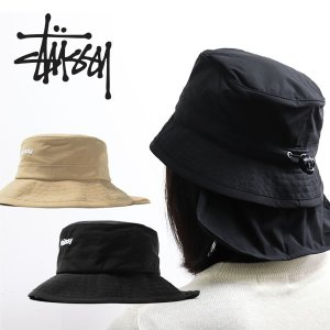 ステューシー【STUSSY】 132916 BUNGEE BUCKET HAT バケットハット スチューシー メンズ 帽子 バケット ハット 日よけ 【ネコポス発送のみ送料無料】|bobsstore
