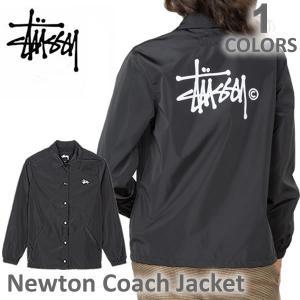 ステューシー/STUSSY 215060 レディース コーチジャケット ジャケット アウター Newton Coach Jacket 長袖 stussy BLACK 人気|bobsstore