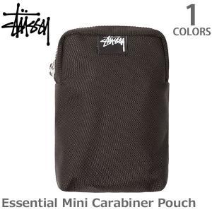 ステューシー【STUSSY】234063 Essential mini carabiner pouch スチューシー stussy  BLACK カラビナ ポーチ|bobsstore
