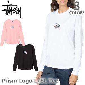 ステューシー/STUSSY レディース ロンT 2992534 Prism Logo L/S Tee スチューシー ロングTシャツ Tシャツ 長袖 stussy トップス|bobsstore