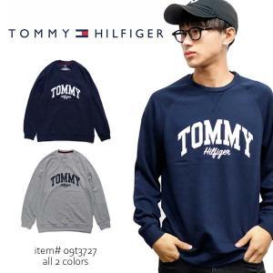 トミーヒルフィガー【TOMMY HILFIGER】  09T3727 スウェット トレーナー 裏起毛 長袖  メンズ ロゴ  トップス|bobsstore