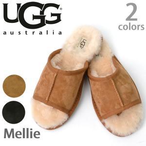 【UGG/アグ】MELLIE/メリー もこもこムートン♪スリッパ スエード/レディース/オーストラリア シープスキン 1010456【送料無料】|bobsstore