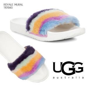 【UGG/アグ】正規品 レディース ROYALE MURAL/ロイヤルミューラル シューズ サンダル ファー もこもこ オーストラリア シープスキン 1101040|bobsstore