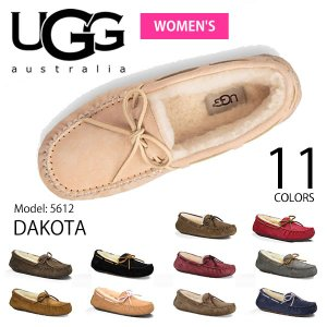 【UGG/アグ】正規品 DAKOTA/ダコタ もこもこムートンモカシン♪スリッポン スエード/レディース/オーストラリア シープスキン 5612|bobsstore