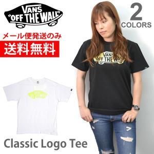 バンズ/VANS Classic Logo 半袖 Tシャツ メンズ トップス  VA17HS-MT04 スケボー ロゴ BLACK WHITE 【送料無料】|bobsstore