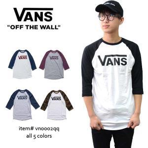 バンズ/VANS ラグラン 7分丈 ロングTシャツ メンズ トップス プレゼント VN0002QQ WHITE/BLACK・WHITE/DRESS BLS/BIKINGRED・ATHLETIC HEATHER/PRUNE|bobsstore