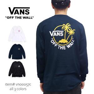 バンズ/VANS  MN SURF PALM LS TEE 長袖 ロングTシャツ パームツリー ロンT カットソー ロゴ メンズ トップス VN00057C|bobsstore