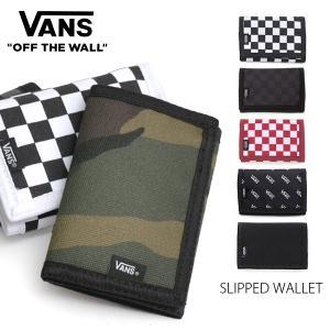 バンズ/VANS SLIPPED WALLET 財布 3つ折り チェック プレゼント カードケース ID マジックテープ 誕生日|bobsstore