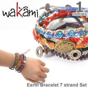 wakami/ワカミ WA0389 Earth Brclet 7 strand Set アースブレスレット ストランド ユニセックス 小物 ユニセックス アクセサリー|bobsstore