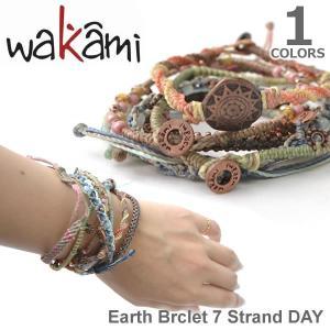 wakami/ワカミ WA0389-10 Earth Brclet 7 Strand DAY ユニセックス 小物 メンズ レディース ユニセックス アクセサリー Bracelet|bobsstore