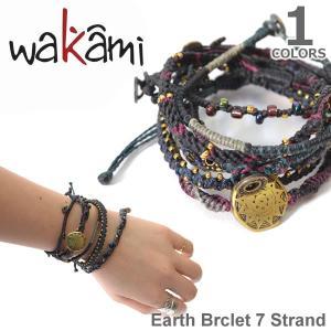 wakami/ワカミ  WA0389-20 Earth Brclet 7 Strand NIGHT アースブレスレット ストランド ユニセックス 小物 ユニセックス アクセサリー|bobsstore