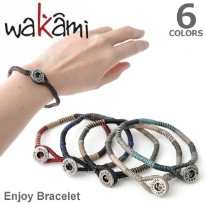 wakami/ワカミ WA0522 Enjoy Bracelet  ブレスレット 小物 メンズ レディース ユニセックス アクセサリー Bracelet 送料無料 メール便発送|bobsstore