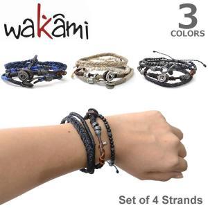 wakami/ワカミ WA0605 ブレスレット アンクレット メンズ レディース ペア 4本セット  ユニセックス アクセサリー Bracelet   3Color ネコポスのみ送料無料 bobsstore
