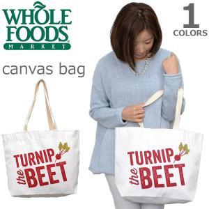 WHOLE FOODS MARKET【ホールフーズマーケット】エコバッグ/トートバッグ Canvas Bag マザーズバッグ 買い物バック|bobsstore