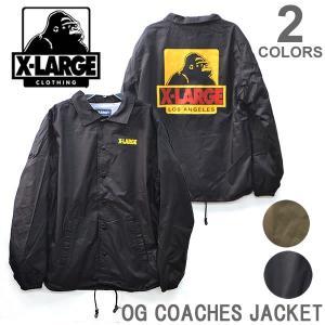 エクストララージ/X-LARGE OG COACHES JACKET コーチ ジャケット メンズ  ロゴ ゴリラ ラージ BLACK KHAKI  ブラック カーキ|bobsstore