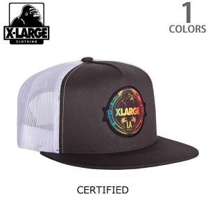 エクストララージ【X-LARGE】CERTIFIED CAP ロゴ ワッペン CAP ストリート キャップ メンズ ニューヨーク ロゴ ゴリラ ラージ cap アメリカ 人気 帽子|bobsstore