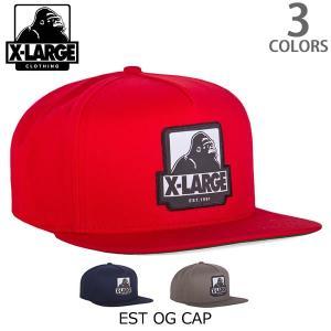 エクストララージ【X-LARGE】EST OG CAP ロゴ ワッペン 刺繍 CAP ストリート キャップ メンズ ニューヨーク ロゴ ゴリラ ラージ cap アメリカ 人気 帽子|bobsstore