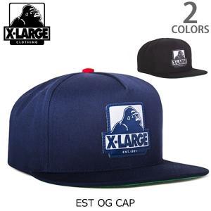 エクストララージ【X-LARGE】EST OG CAP 2 ロゴ ワッペン CAP ストリート キャップ メンズ ニューヨーク ロゴ ゴリラ ラージ cap アメリカ 人気 帽子|bobsstore