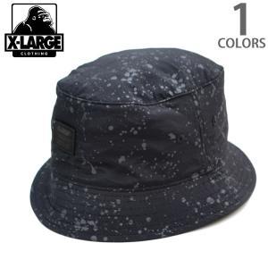 エクストララージ【X-LARGE】POLLUCK BUCKET HAT BLACK M15C9115 バケットハット ブラック ストリート メンズ ニューヨーク ラージ|bobsstore