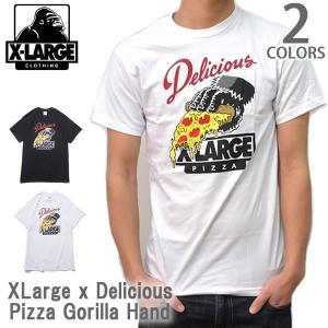 エクストララージ/X-LARGE ストリート ロゴ Tシャツ<BR>GORILLA HAND TEE M15Z1601 ブラック ホワイト メンズ  【メール便のみ送料無料】|bobsstore