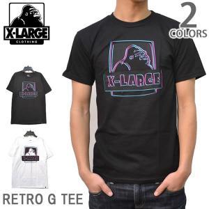 エクストララージ/X-LARGE ストリート ロゴ Tシャツ<BR>RETRO G TEE M16A1101 ブラック ホワイト  【メール便のみ送料無料】|bobsstore