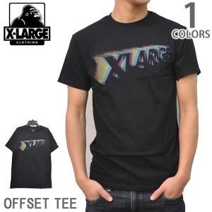 エクストララージ/X-LARGE ストリート ロゴ Tシャツ<BR>OFFSET TEE M16A1602 ブラック メンズ  【メール便のみ送料無料】|bobsstore