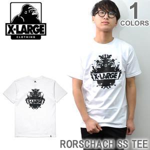 エクストララージ/X-LARGE RORSCHACH SS TEE M17D1101 ストリート ロゴ Tシャツ メンズ ニューヨーク ロゴ ゴリラ ラージ アメリカ|bobsstore