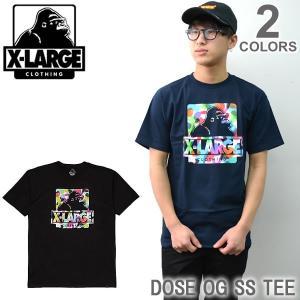 エクストララージ/X-LARGE DOSE OG SS TEE M17D1105 ストリート ロゴ Tシャツ メンズ ニューヨーク ロゴ ゴリラ ラージ アメリカ|bobsstore