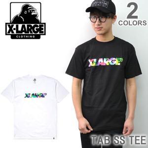 エクストララージ/X-LARGE TAB SS TEE M17D1106 ストリート ロゴ Tシャツ メンズ ニューヨーク ロゴ ゴリラ ラージ アメリカ 人気|bobsstore
