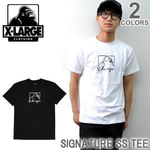 エクストララージ/X-LARGE SIGNATURE SS TEE M17D1111 ストリート ロゴ Tシャツ メンズ ニューヨーク ロゴ ゴリラ ラージ|bobsstore