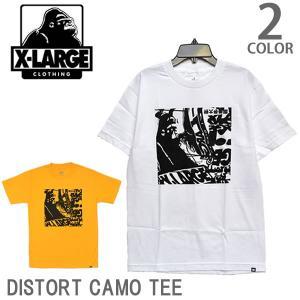 エクストララージ【X-LARGE】ストリート ロゴ Tシャツ TEE DISTORT OG M1A15005 メンズ ニューヨーク ロゴ ゴリラ ラージ アメリカ メール便のみ送料無料|bobsstore
