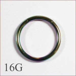 素材:316Lサージカルステンレス ゲージ:16G 内径:10mm  【カラー】:1色のみになります...