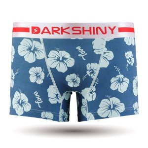 DARKSHINY DARK SHINY ダークシャイニー 人気 おしゃれ ボクサーパンツ メンズ ハイビスカス 花 青 ブルー セット|bodycreate