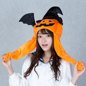 ハロウィンかぼちゃピコ耳帽子  かわいい ぴこぴこ ピコ耳 可愛い 流行 TikTok Instag...