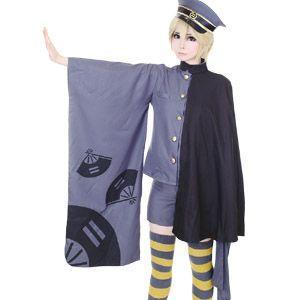 コスプレ ハロウィン 鏡音レン 千本桜 風 コスチューム一式 5点セット 和装 costume757