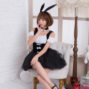 コスプレ ハロウィン ハロウィン コスプレ  バニーガール 4点セット M〜Lサイズあり costu...