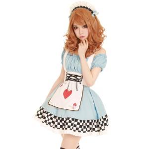 コスプレ コスプレ コスチューム一式 3点セット メイド アリス ハロウィン 衣装 costume9...