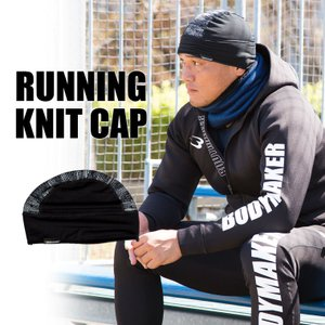 ランニングニットキャップ BODYMAKER ニット帽 ニットキャップ 帽子 タグ 防寒 メンズカジュアル レディースカジュアル スキー スノボ ウィ|bodymaker